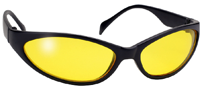 Yellow shooting glasses