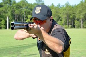 Insured gun owner at the shooting range